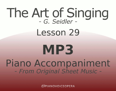 Seidler, The Art of Singing Piano Accompaniment Lesson 29