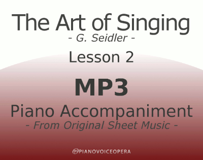 Seidler, The Art of Singing Piano Accompaniment Lesson 2