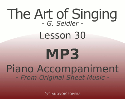 Seidler, The Art of Singing Piano Accompaniment Lesson 30