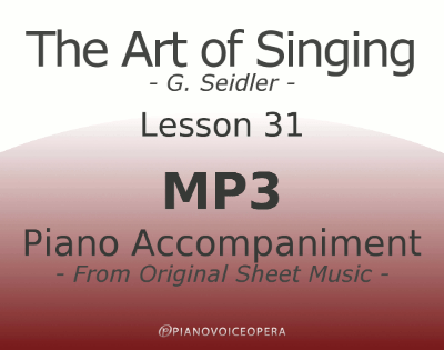Seidler, The Art of Singing Piano Accompaniment Lesson 31