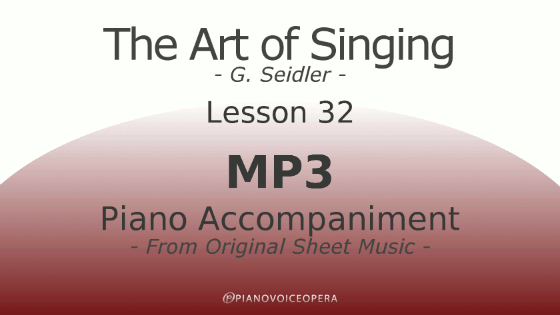 Seidler, The Art of Singing Piano Accompaniment Lesson 32