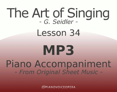 Seidler, The Art of Singing Piano Accompaniment Lesson 34