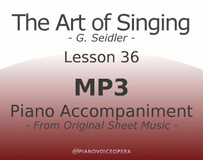 Seidler, The Art of Singing Piano Accompaniment Lesson 36