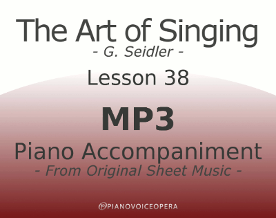 Seidler, The Art of Singing Piano Accompaniment Lesson 38