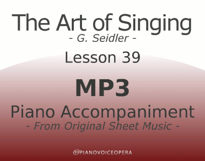 Seidler, The Art of Singing Piano Accompaniment Lesson 39