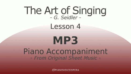 Seidler, The Art of Singing Piano Accompaniment Lesson 4