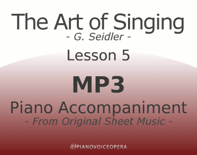 Seidler, The Art of Singing Piano Accompaniment Lesson 5