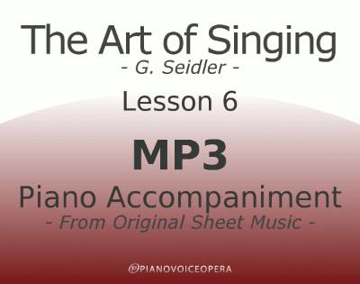 Seidler, The Art of Singing Piano Accompaniment Lesson 6