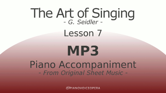 Seidler, The Art of Singing Piano Accompaniment Lesson 7