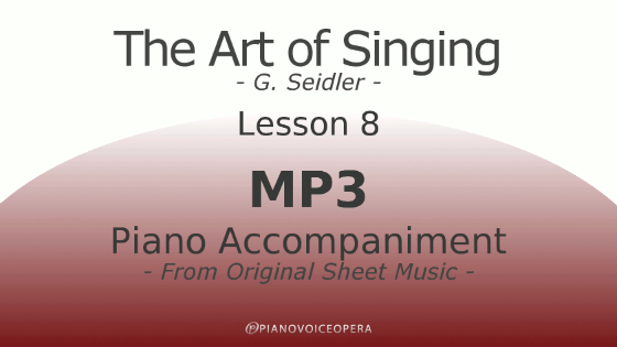 Seidler, The Art of Singing Piano Accompaniment Lesson 8