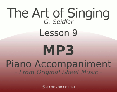 Seidler, The Art of Singing Piano Accompaniment Lesson 9