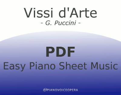 Vissi d'Arte Easy Piano Sheet Music