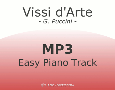 Vissi d'Arte Easy Piano Accompaniment