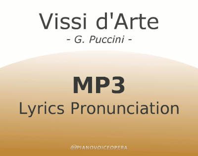 Vissi d'Arte Lyrics Pronunciation