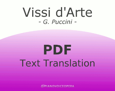 Vissi d'Arte Text Translation
