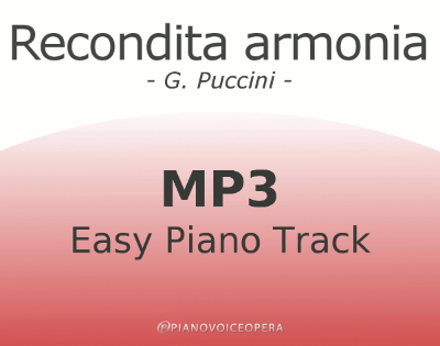 Recondita Armonia Easy Piano Accompaniment