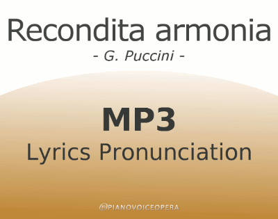 Recondita Armonia Lyrics Pronunciation