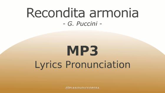 Recondita Armonia Lyrics Pronunciation