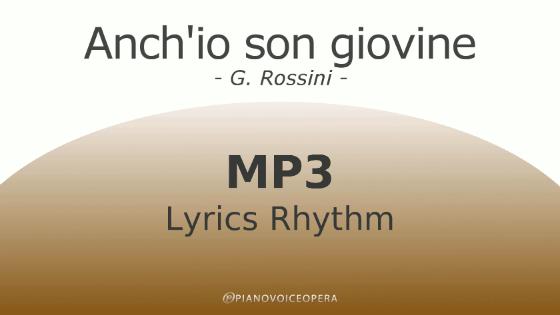 Anch'io son giovine Lyrics Rhythm