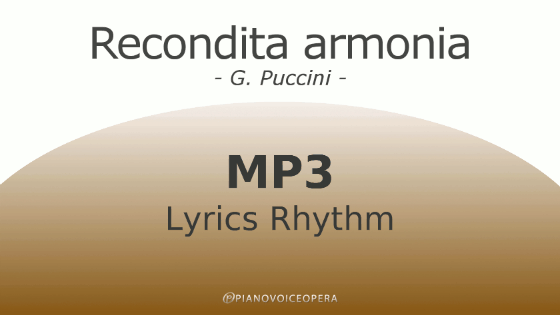 Recondita Armonia Lyrics Rhythm