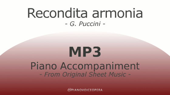 Recondita armonia Piano Accompaniment