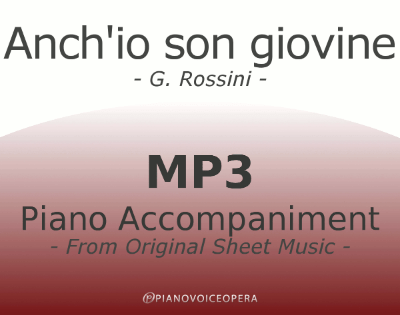Anch'io son giovine piano accompaniment
