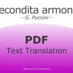 Recondita Armonia Text Translation