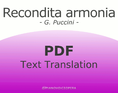Recondita Armonia Text Translation