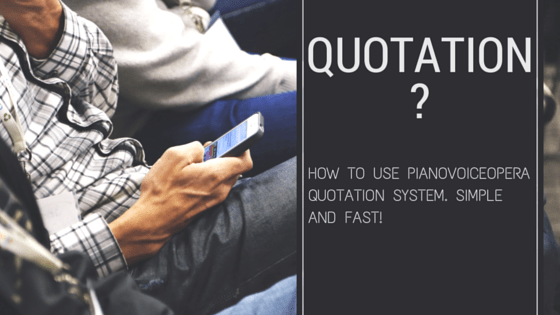 PianoVoiceOpera Quotation System
