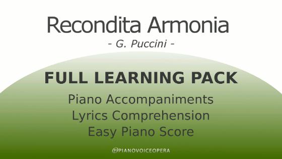Recondita Armonia Full Learning Pack