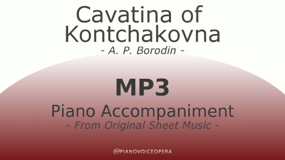 Cavatina of Kontchakovna piano accompaniment