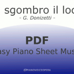 È sgombro il loco easy piano accompaniment sheet music score