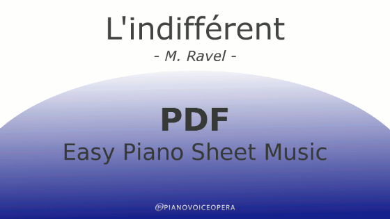 l'indifferent easy piano accompaniment sheet music score