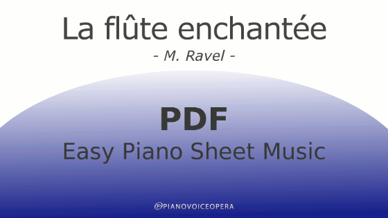 La flûte enchantée easy piano accompaniment sheet music score