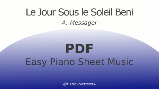 Le jour sous le soleil beni easy piano accompaniment sheet music score