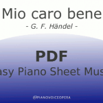 Mio caro bene easy piano accompaniment sheet music score