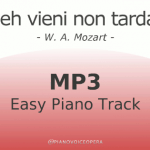 Deh vieni non tardar Easy Piano Accompaniment