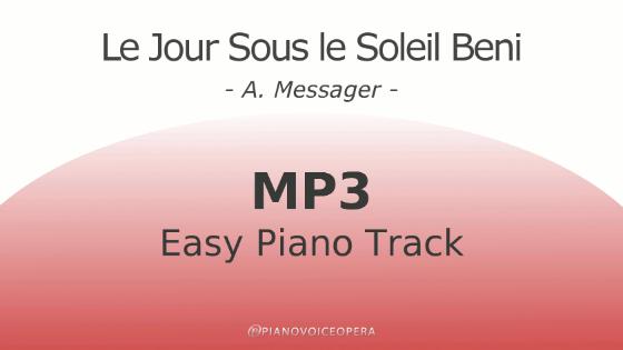 Le jour sous le soleil beni easy piano accompaniment track