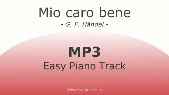 Mio caro bene easy piano accompaniment track
