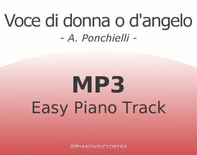 Voce di donna o d'angelo Easy Piano Accompaniment