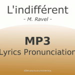 l'indifferent lyrics pronunciation