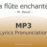 La flûte enchantée lyrics pronunciation