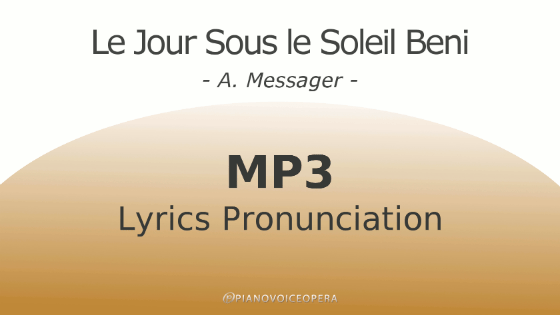 Le jour sous le soleil beni lyrics pronunciation