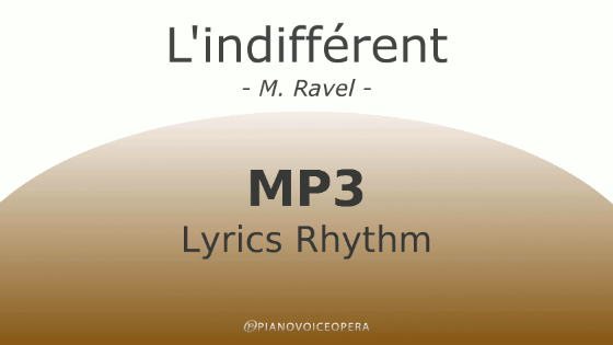 l'indifferent lyrics rhythm