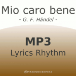 Mio caro bene lyrics rhythm