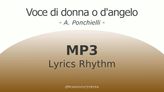 Voce di donna o d'angelo Lyrics Rhythm