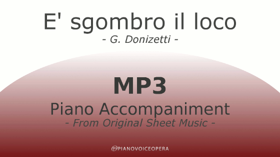 È sgombro il loco piano accompaniment