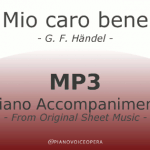 Mio caro bene piano accompaniment