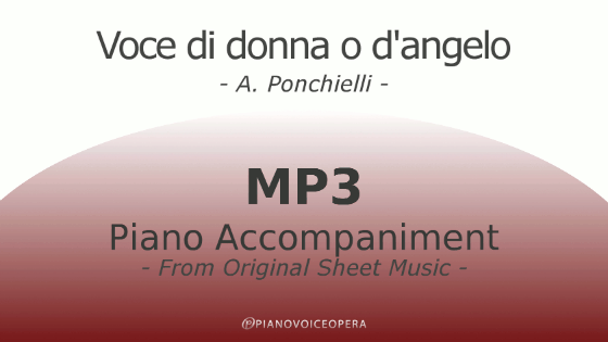 Voce di donna o d'angelo Piano Accompaniment