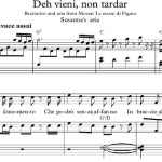 Deh vieni non tardar Easy Piano Sheet Music pre